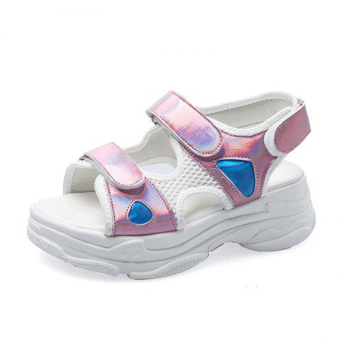 Comfortable Thick-bottomed Sandals - PINK EU 37