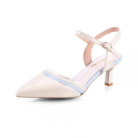 High Tip and Sexy Fashion Girl Sandals - BEIGE EU 35