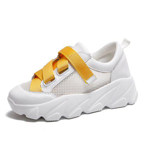Summer New Fly Mesh Fashion Sneakers for Women - SUN YELLOW EU 39