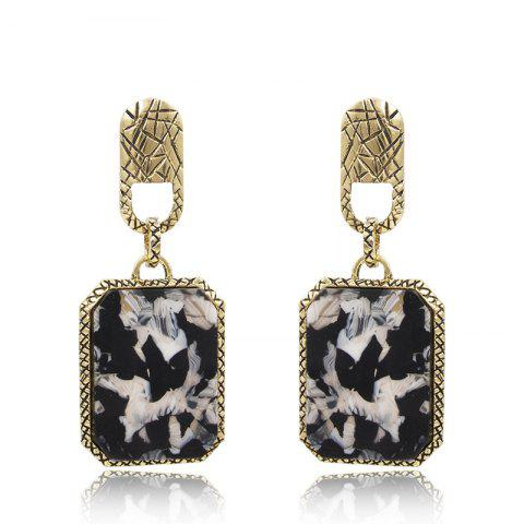 Old Style Square Acrylic Fashion Personality Earrings - multicolor 1 PAIR