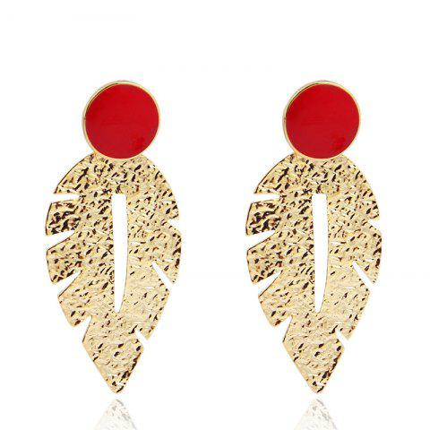 Personality Leaves Long Fashion Sweet Earring - multicolor 1 PAIR