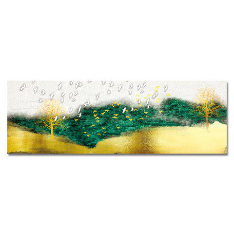 DYC New Chinese Abstract Forest Landscape Print Art - multicolor