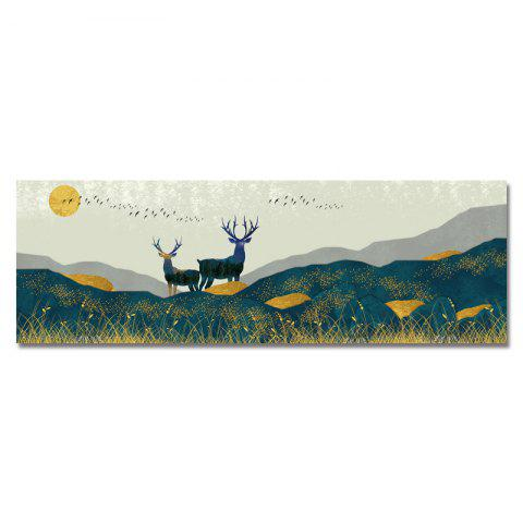 DYC Wild Deer Scenery in The Forest Print Art - multicolor
