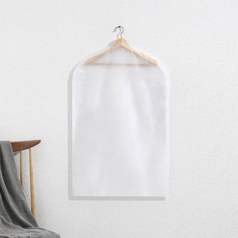 Small Printing Dust-Proof Hang Clothes Storage Bag - NATURAL WHITE