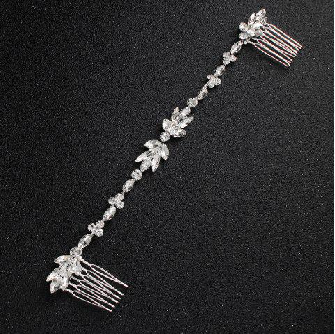 FEIS Simple Flower Long Hair Comb Headdress Decoration - SILVER