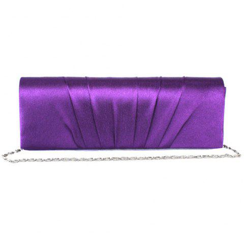 New Ladies Hand Bag Silk Pleated Texture Dinner Bag - VIOLET REGULAR