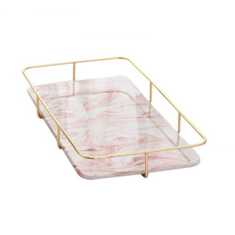 Nordic Marble Receiving Board Goods Box Tea Set Water Cup Tray - PINK