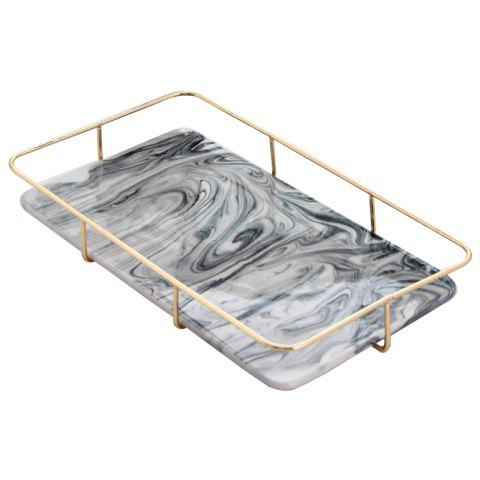 Nordic Marble Receiving Board Goods Box Tea Set Water Cup Tray - SLATE GRAY