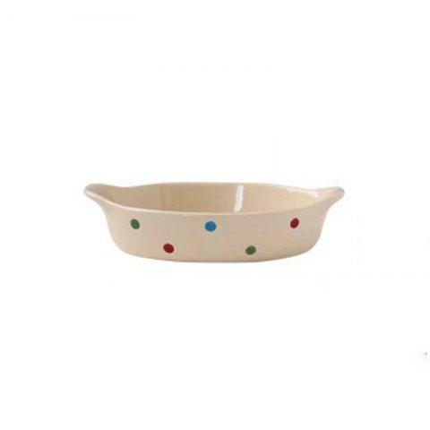 Creative Pasta Salad Plate for Poached Rice Cheese - WARM WHITE 20.5*12.5*4