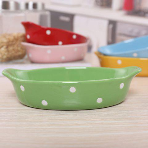 Creative Pasta Salad Plate for Poached Rice Cheese - PINE GREEN 20.5*12.5*4