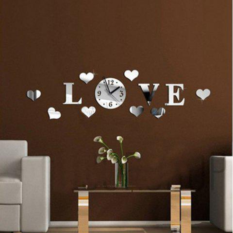 Creative Love Stickers Living Room Fashion Love Crystal Mirror Sticker - multicolor A 70 X 15CM