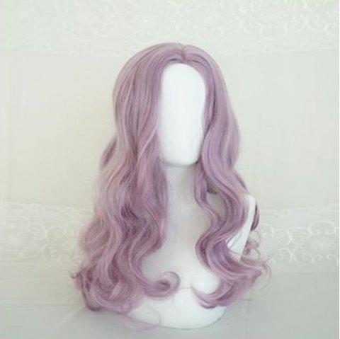 Middle Long Curly Citron Big Wave Female Long Hair - PINK 50 X 15 X 1CM