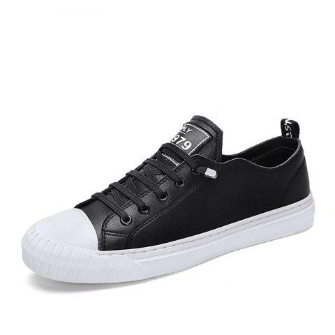 Summer New Handmade Microfiber Leather Upper Flat Casual Shoes for Men - multicolor A EU 44