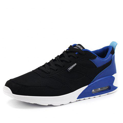 Summer Youth Sports Low Top Breathable Mesh Running Shoes for Men - BLUE EU 39