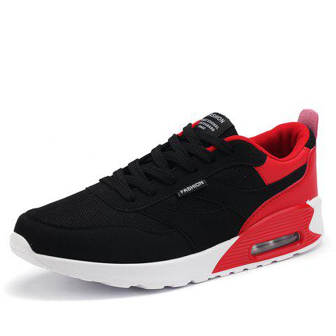 Summer Youth Sports Low Top Breathable Mesh Running Shoes for Men - RED EU 44