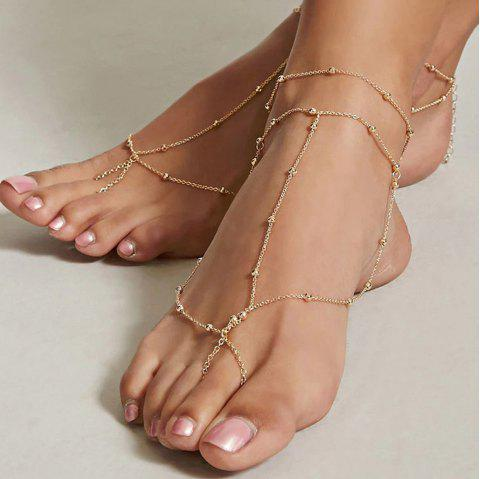 Fashion Rice Bead Chain Anklet 1PC - GOLD