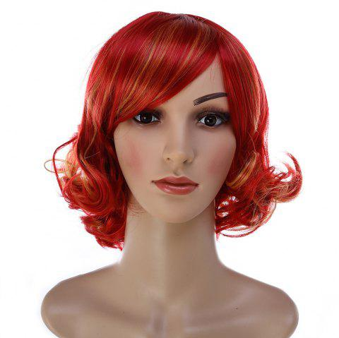Short Hair Face Fluffy Hairstyle Wig - multicolor 1PC