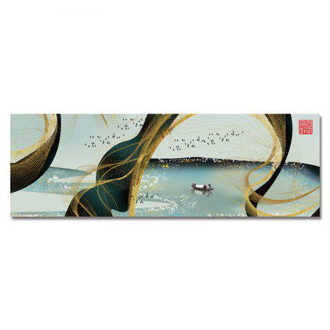 DYC Fishermen on The Abstract Lake Print Art - multicolor