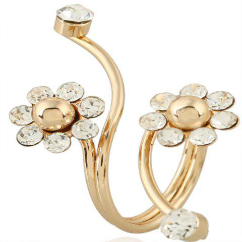 Stylish New Gold-plated Flower Spring Ring - GOLD RESIZEABLE