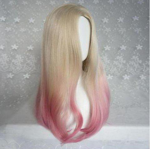 Bleaching and Dyeing Gradient Wig - multicolor A 60 X 15 X 1CM