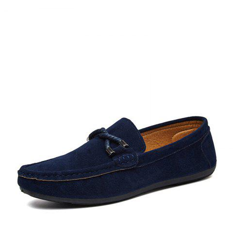 Fashion Low-Top Loafer Flat Shoes - MIDNIGHT BLUE EU 44