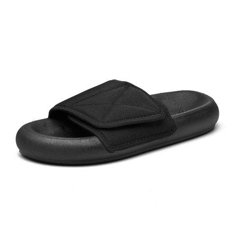 2019 Summer New Personality Sandals Male sports Casual Fashion Slippers for Men - BLACK EU 35