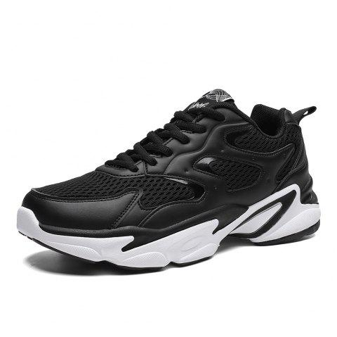 Summer New Casual Sports Breathable Shock-absorbing Running Shoes Men - BLACK EU 42
