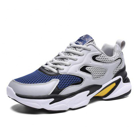 Summer New Casual Sports Breathable Shock-absorbing Running Shoes Men - LIGHT GRAY EU 40