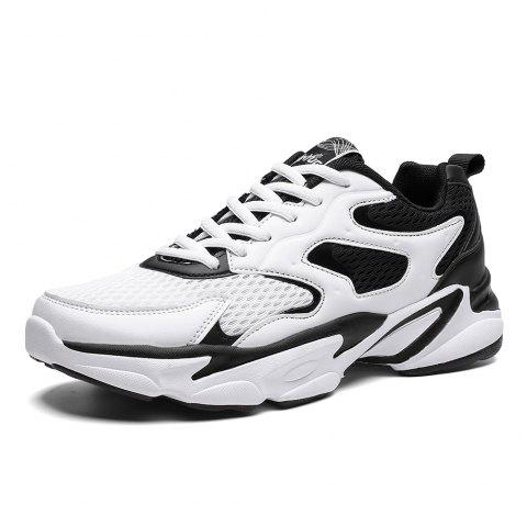 Summer New Casual Sports Breathable Shock-absorbing Running Shoes Men - WHITE EU 44