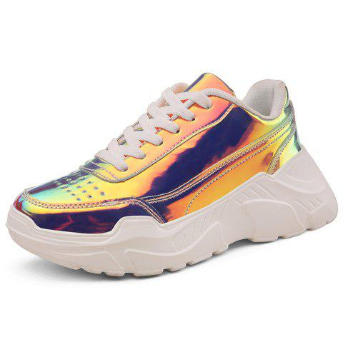 Fashion Sneakers Breathable Sequins Uppers Sport Shoes for Women - multicolor A EU 38