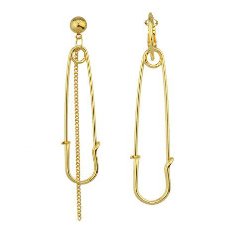 Gold Silver Color with Pin Dangle Earrings - GOLD