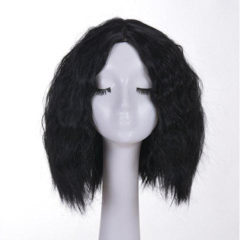 Corn Scald Fluffy African Wig - BLACK 1PC