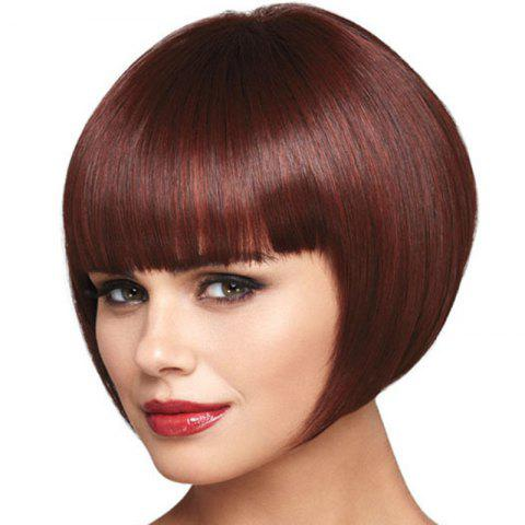 Rose Net European Female Personality Hairstyle Wig - RED WINE 1PC