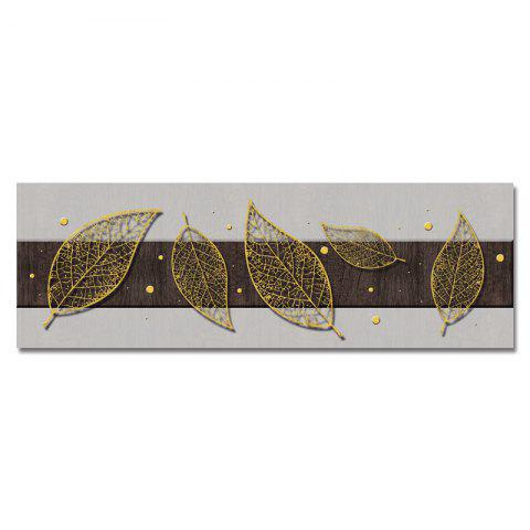 DYC Golden Leaves on The Board Print Art - multicolor