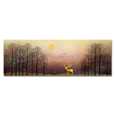 DYC Sunrise Scenery in The Forest Print Art - multicolor