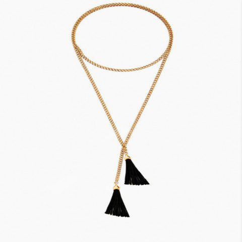 Exaggerated Simple Long Tassel Necklace Necklace - multicolor 1PC