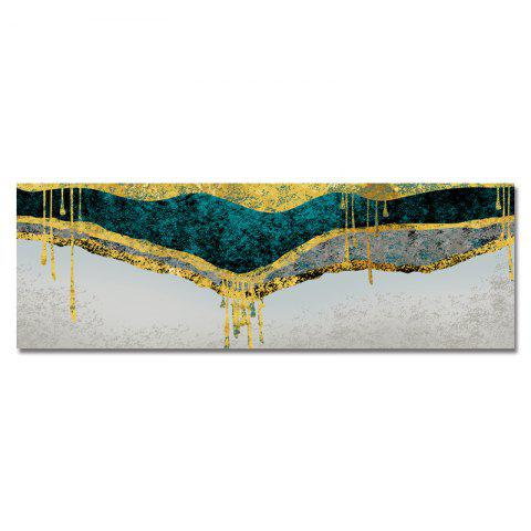 DYC Art Collides With Color Abstraction Print Art - multicolor