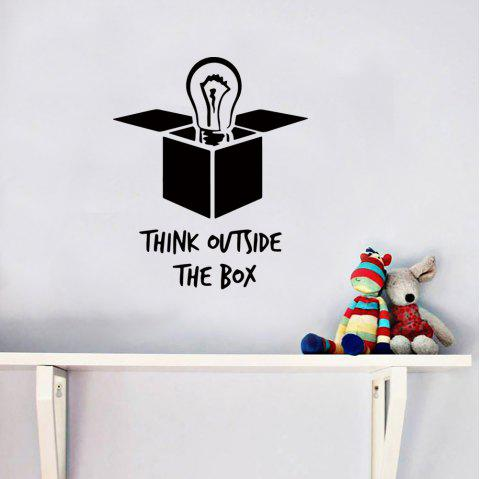 Words Quotes Removable PVC Wall Sticker - BLACK 36X43CM