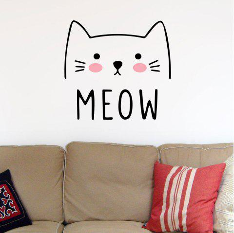 Cartoon Cute Cat Sticker Home Bedroom Wall Background Decoration Sticker - multicolor A 43*57CM