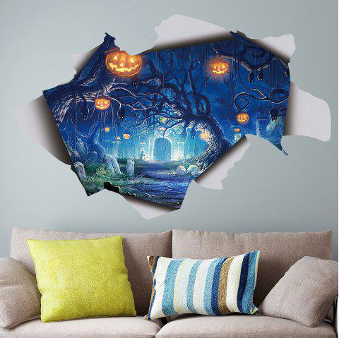 Terrifying Halloween Decorations Movable PVC Wall Sticker - multicolor (57X36)CM
