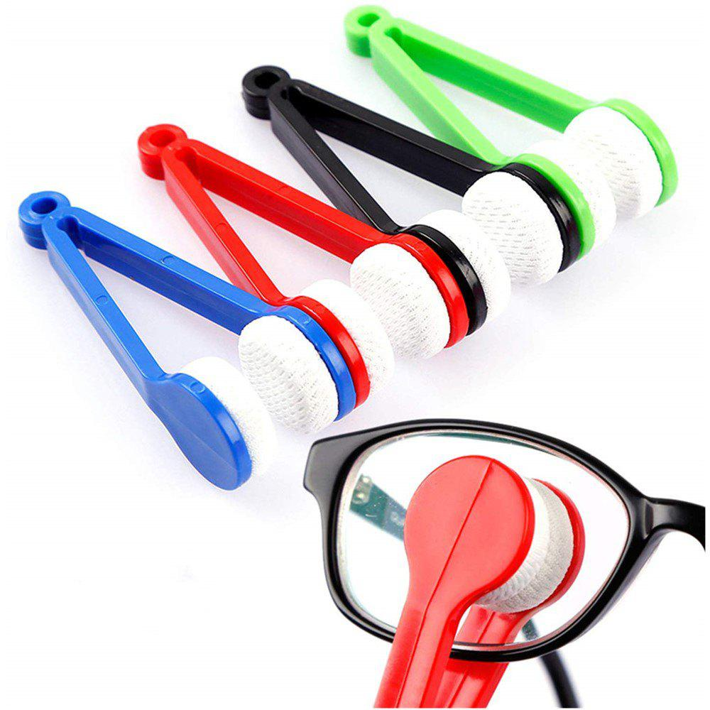 Microfiber Mini Sun Glasses Eyeglass Clean Brush Cleaning Spectacles Tool 5pcs - multicolor A