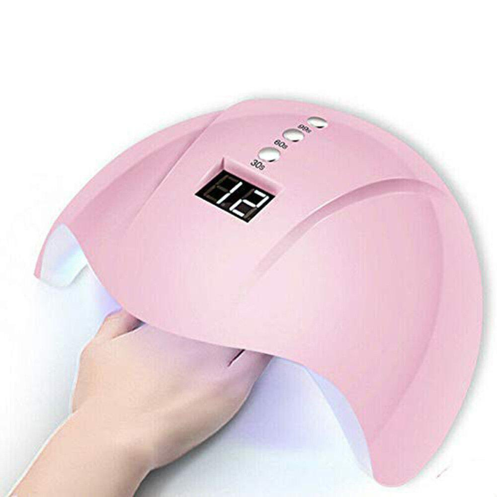 36W Electric Manicure Smart Sensor Nail Dryer with LED Lamp UV Light for Nails - PINK