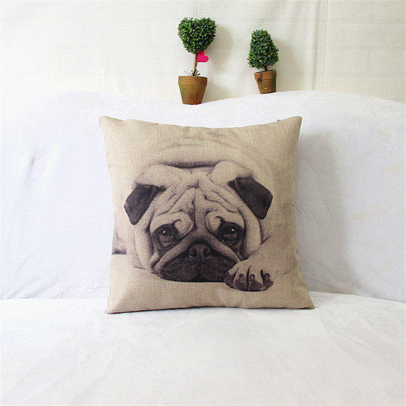 Dog Pattern Linen Pillow Case Decorative Pillowcase lips pattern bedroom office decorative pillow case