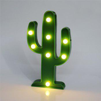 Home Decoration Cactus Shape Decoration LED Night Light - GREEN GREEN
