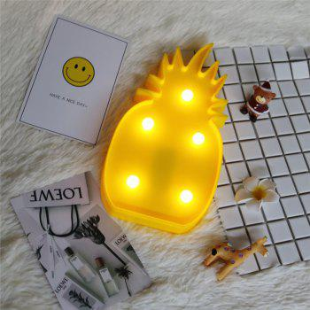 Home Decoration Pineapple Shape Decoration LED Night Light Table Lamp -  YELLOW