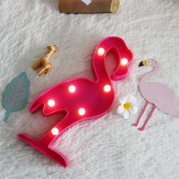 Home Decoration Flamingo Shape Decoration LED Night Light Table Lamp - ROSE RED