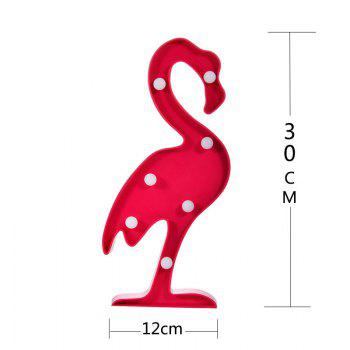 Lampe de Nuit LED de Table en Forme de Flamant Rose Déco Maison - rose