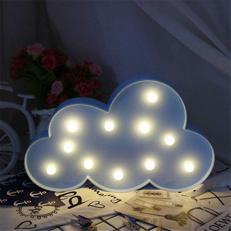 Home Decoration Clouds Shape Decoration LED Night Light Table Lamp high quality 3d led night light usb switch table lamp lanterna for home decoration