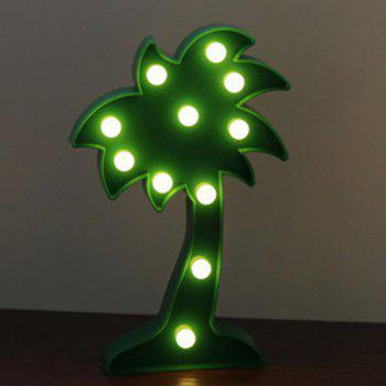 Home Decoration Coconut Tree Shape Decoration LED Night Light Table Lamp - GREEN GREEN