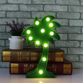 Home Decoration Coconut Tree Shape Decoration LED Night Light Table Lamp -  GREEN